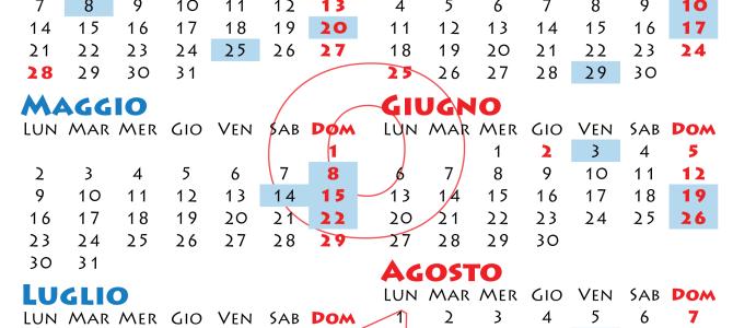 Calendario giornate di raccolta 2016 AVIS Scordia